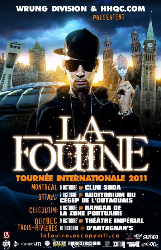 TOURNÉE AU CANADA AU MOIS D'OCTOBRE LA FOUINE