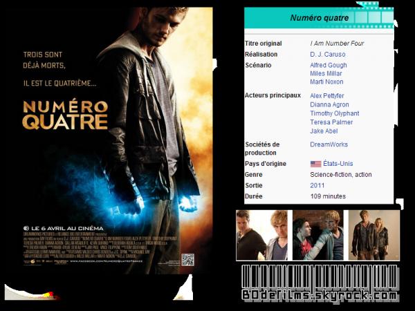 → Film n°4 ; Numéro 4 ( Pas fait exprès je le jure --' )  .