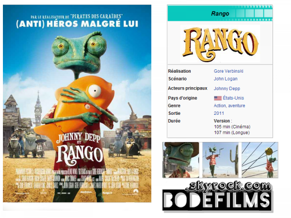 → Film n°6 ; Rango .