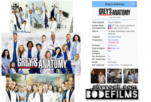 → Série N°01 : Grey's Anatomy Saison 1
