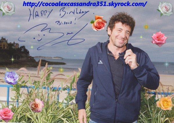 autographe de patrick bruel