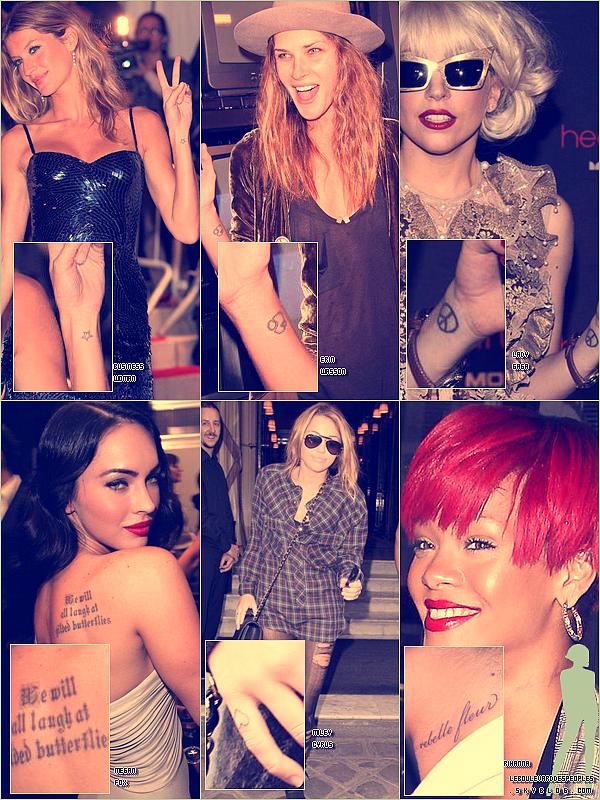 Elles en raffolent toutes ! Mais qui a le plus de goût pour les tatouages ?  ;)