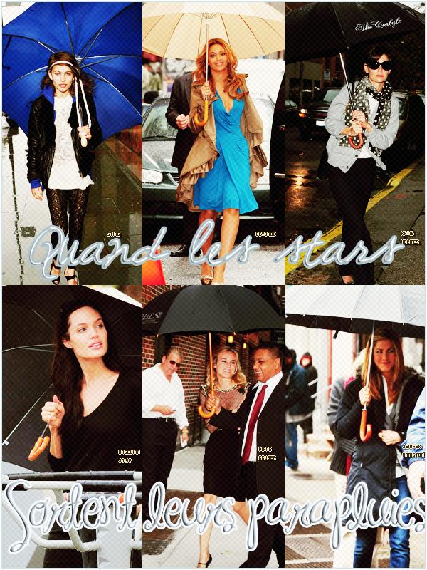 Quand les stars sortent toutes leurs parapluies ça donne ça !