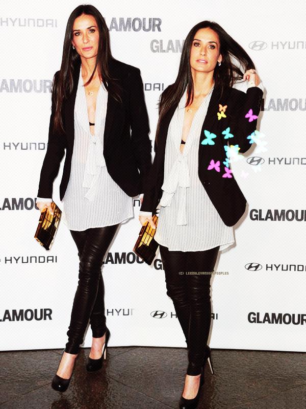 Demi Moore : lundi 25 octobre 2010. Lors de l'événement Glamour Reel Moments Elle a beau avoir 47 ans, elle reste aussi classe et sexy !