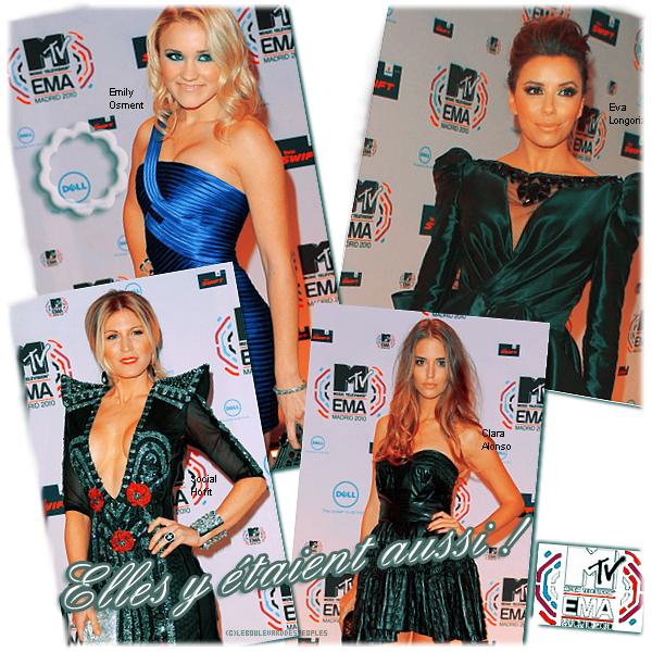 MTV EMAs 2010 Red Carpet à Madrid.  (07 Novembre 10')
