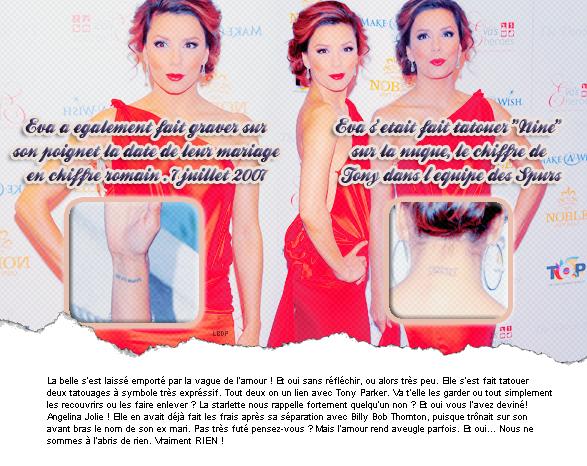 Eva Longoria va regretter ses tatouages !