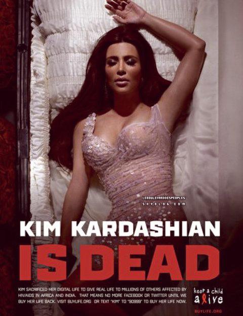 Kim Kardashian, Lady Gaga et Justin Timberlake morts pour ....la bonne cause