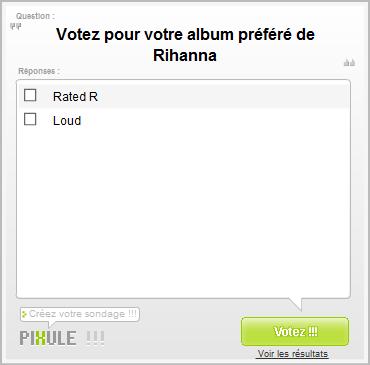 Vote pour ton album préféré !!