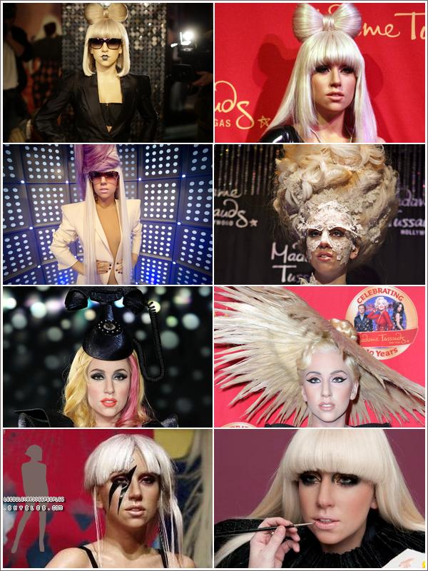 Madame tussauds s'offre Lady Gaga en huit exemplaires !Et beh elle, Elle se fait pas chier elle au moins :-p