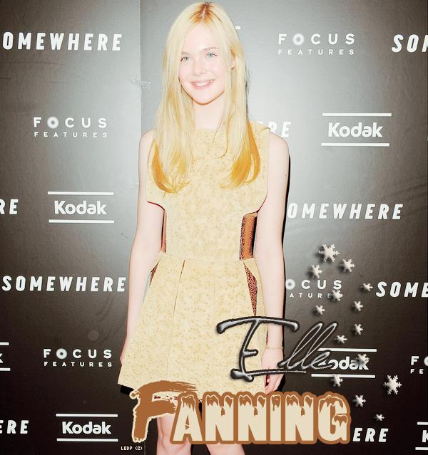 Elle Fanning: à la première de son filmSomewhere . 12/12/2010Pas TOP les chaussettes...