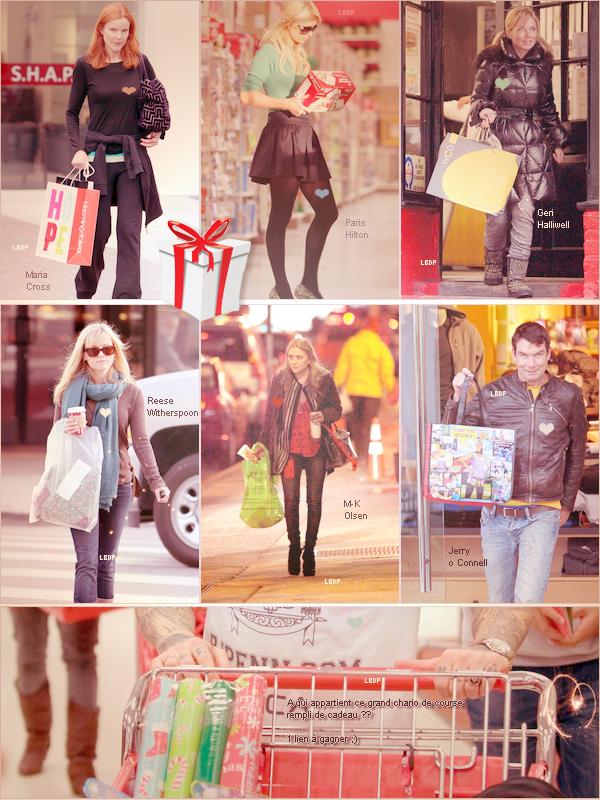 Noël arrive ! Et les stars le savent bien Shopping de Noël !