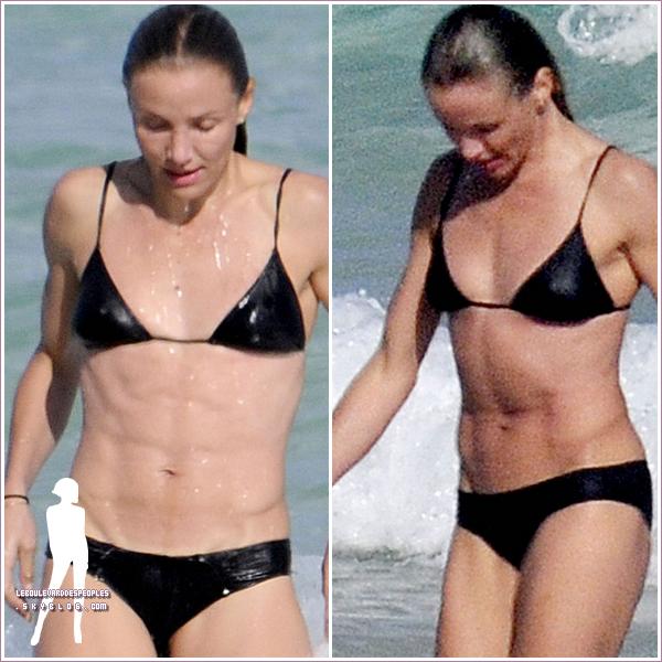 Cameron Diaz en Bikini à Miami le 1er fevrier 2011.