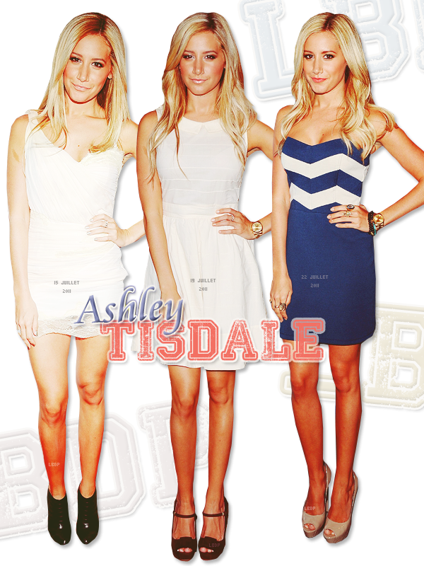 Selection TOP d'Ashley Tisdale du mois de Juillet. Inspire toi!
