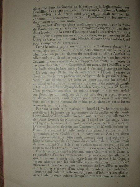 LA BATAILLE DE GACE août 1944 (modifié le 11/02/2014