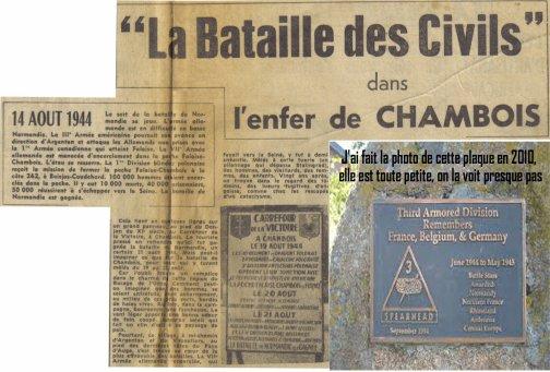Chambois, l'enfer des civils.