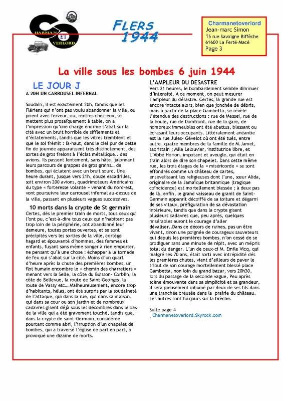 FLERS DE L'ORNE 1944