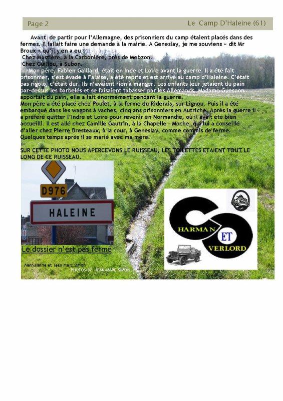 LE CAMP D'HALEINE et de COUTERNE (61)