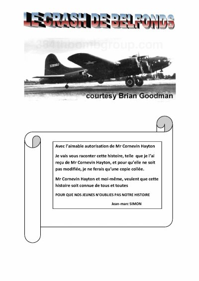 LE CRASH DE BELFONDS (19 pages)