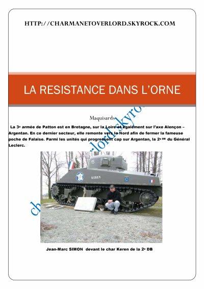 LA RESISTANCE DANS L'ORNE