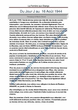"""""""LA FERRIERE AUX ETANGS"""" (61)"""