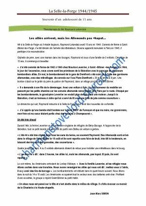 TÉMOIGNAGES DE PERSONNES (modifié le 24/02/14)