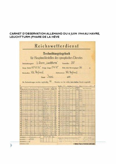 MÉTÉO DU 06/06/1944 ( la véritable histoire)