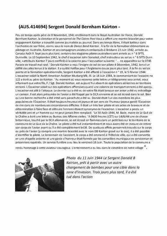 Donald B. KAIRTON  ' modifié le 14/0/10/2015
