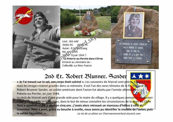 2e Lieutenant Robert Blunner SANDER ( La Poterie au perche 61)