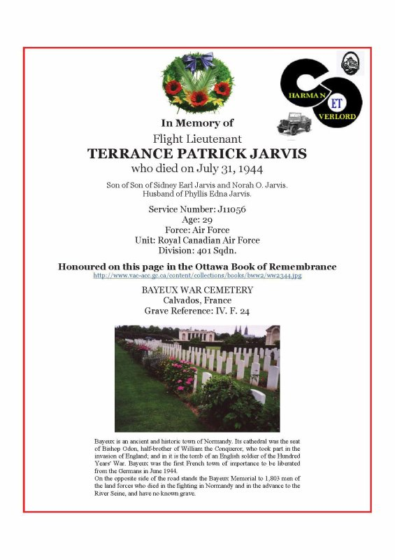 TERRANCE PATRICK JARVIS ( Céaucé 61)