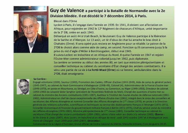 Guy de Valence   (Mon Hommage)