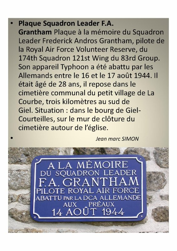 Pilote Frédérick Andros Grantham  ( La Courbe  61)