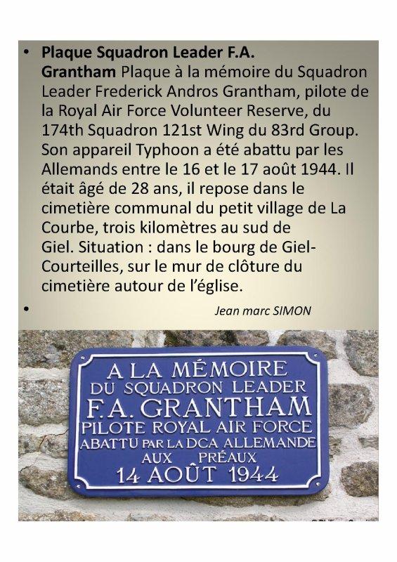 Pilote Frédérick Andros Grantham  ( La Courbe  61)