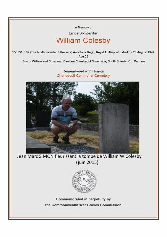 CHENEDOUIT (61) William Colesby