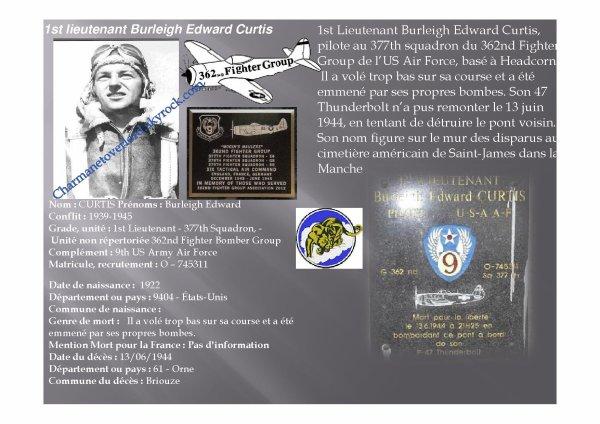 BRIOUZE  (61)  1er Lieutenant Burleigh Curtis (modifié le 14 sept 2017)