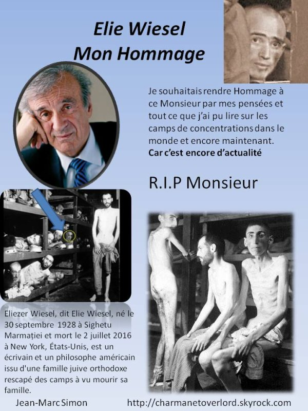 R.I.P Mr Elie Wiesel ( Respect )