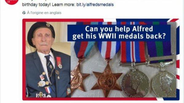 Le vétéran perd ses médailles en France