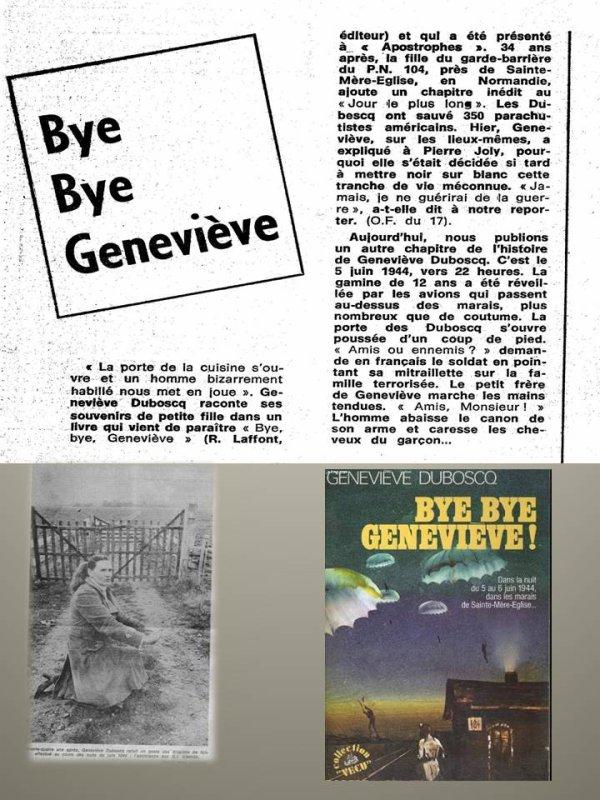 "Bye Bye Geneviève "" Mon Hommage à cette grande Dame"""