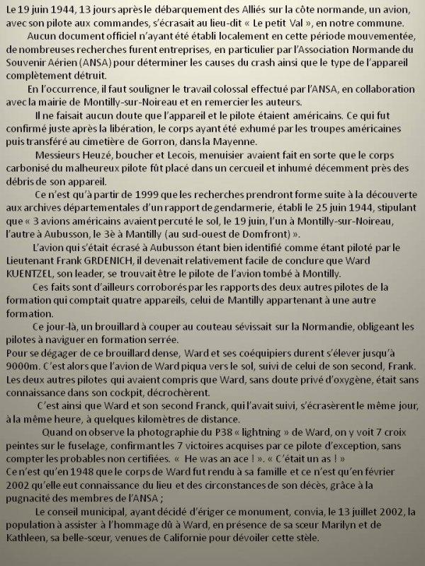 Montilly sur Noireau 61 / Ward Albert Kuentzel