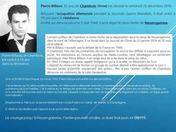 Pierre Billaux (résistant jusqu'au bout de sa vie)