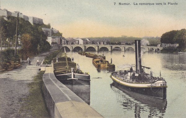 Namur, la remorque vers La Plante