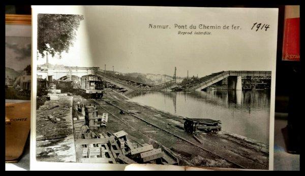 Namur, le pont du luxembourg (1914)