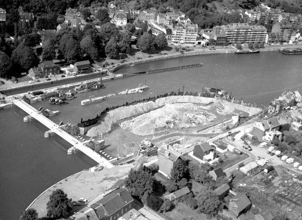 Travaux de construction du nouveau barrage de La Plante (1983-1986)
