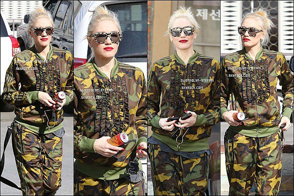 19 Janvier 2015 : Ranger Gwen sortant d'une clinique à Los Angeles