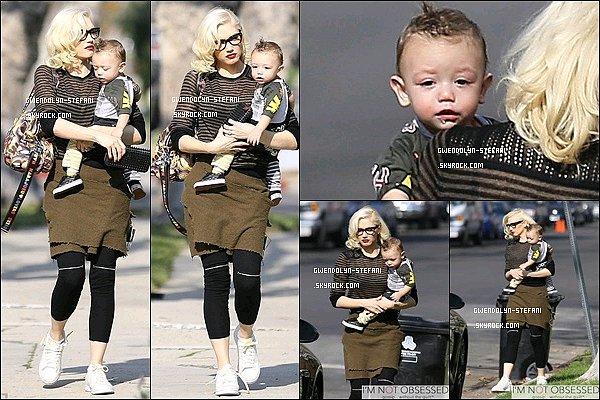 7 Janvier 2015 : maman Gwen était avec son petit Apollo dans Los Angeles