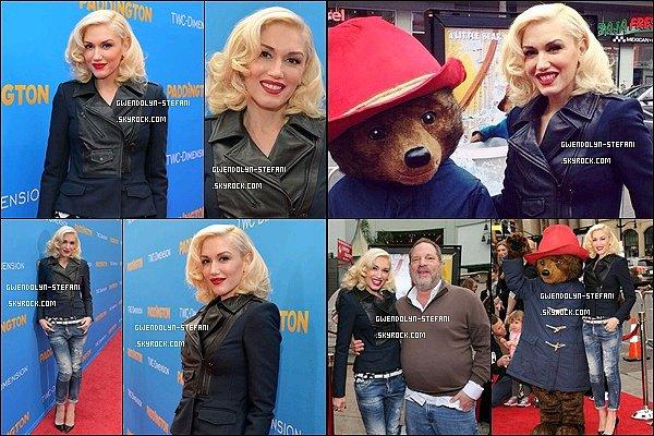 """10 Janvier 2015 : La belle Gwen était sur le tapis rouge lors de la première du film """" Paddington """" + Côté look Gwen était tout simplement sublime ! J'adore sa tenue très simple et chic, elle déchire tout !"""
