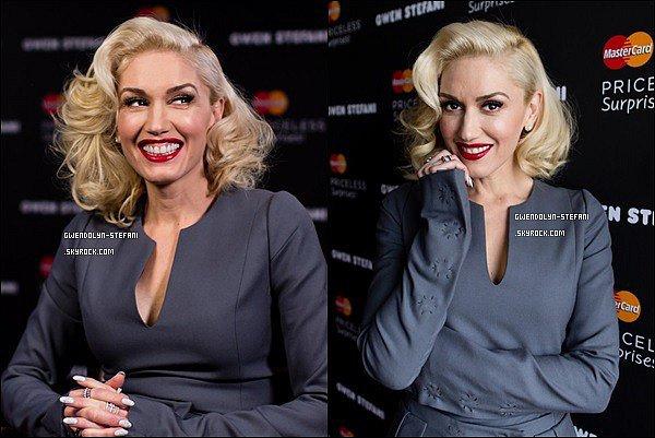 21 Janvier 2015 : Gwen sur le tapis rouge d'un événement Master Card
