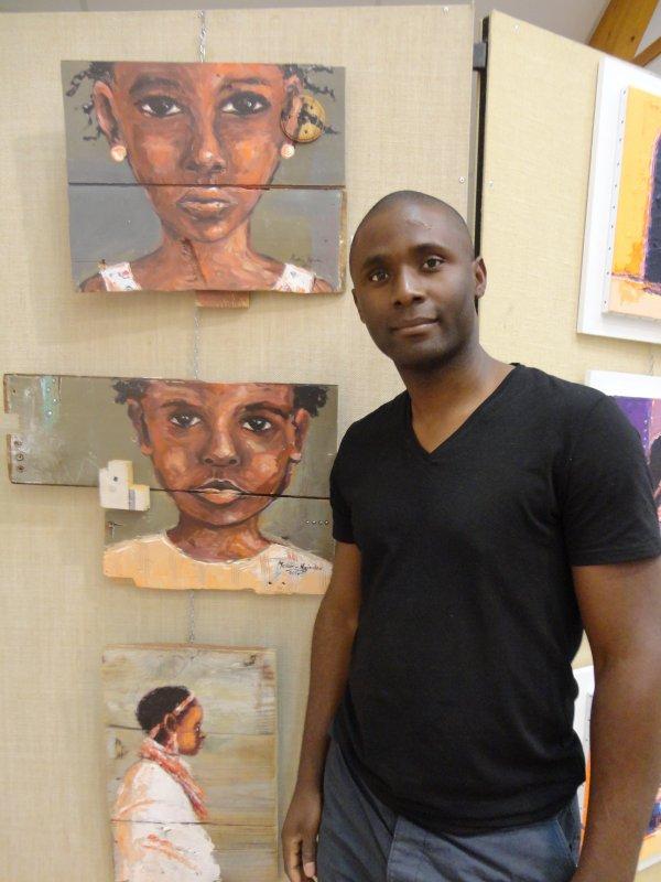 "Melain NZINDOU, artiste peintre, ""Art 2 Récup"""