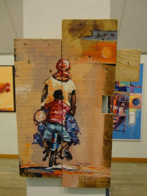 Invité d'honneur, exposition à Estivareilles,  octobre 2012