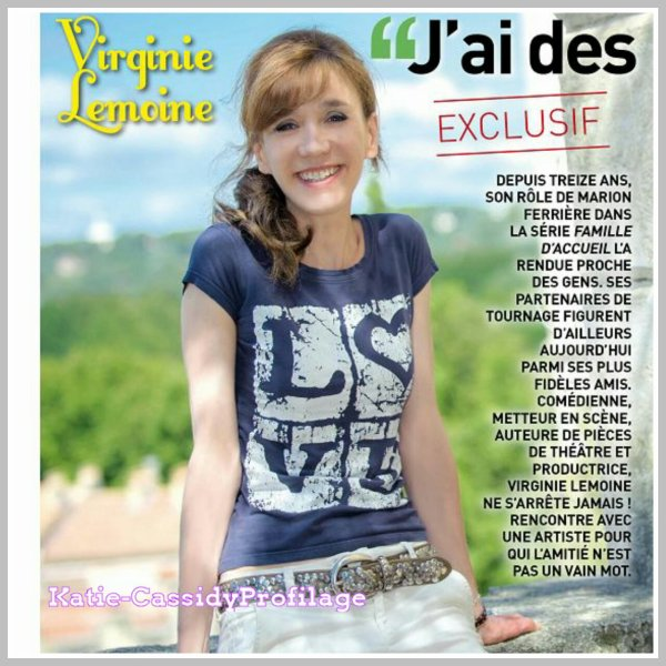 Scan   de Virginie  lemoine dans le magasine  1001images en septembre 2014