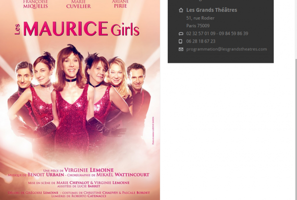 les Maurice Girls ! SPECTACLE DE VIRGINIE LEMOINE!!